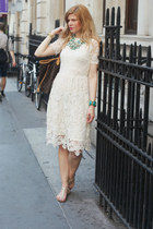 H&M dress - Louis Vuitton bag - Guess sandals