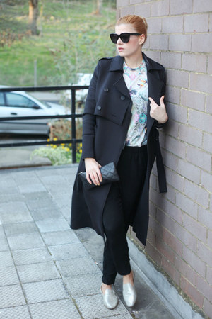 River Island coat - Jimmy Choo shoes - Celine sunglasses