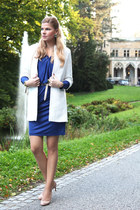 Reiss dress - Christian Louboutin shoes - Zara coat - Love Moschino bag