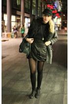All sa skirt - Topshop coat - bale bag