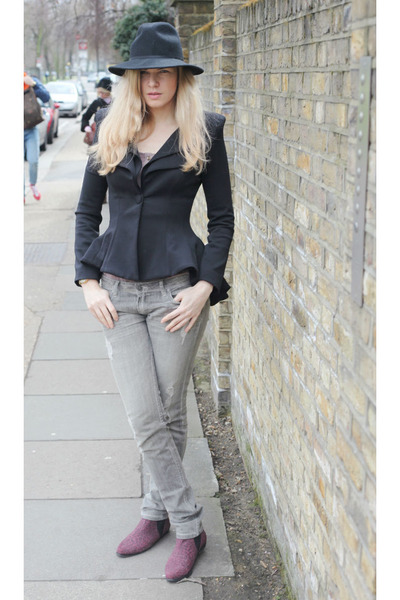 River Island boots - All Saints jeans - Celeb boutique blazer