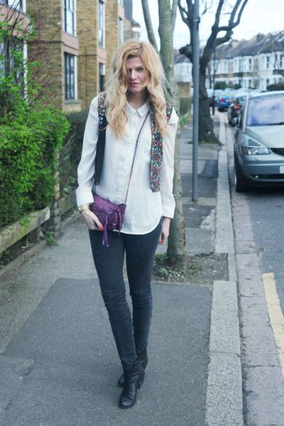 Helmut Lang jeans - Zadig & Voltaire bag - Zara t-shirt