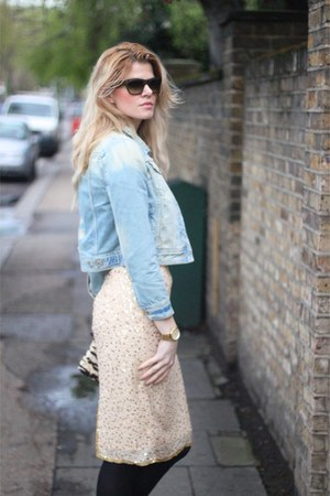 Ebay skirt - River Island jacket - D&amp;G bag - Celine sunglasses