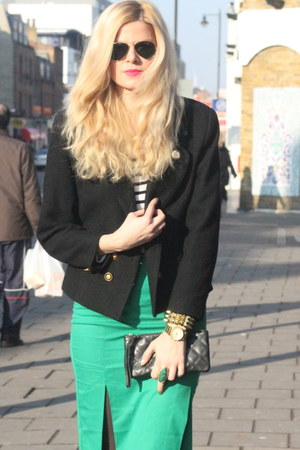 asos skirt - vintage blazer - Marc Jacobs bag