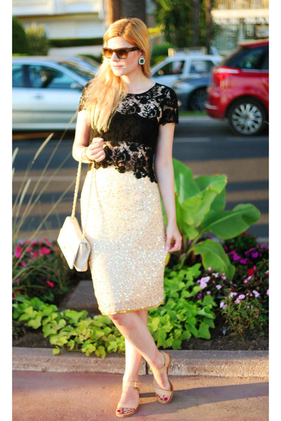 6c7a6f8fff20 Ebay skirt - Love Moschino bag - Celine sunglasses - sam edelman sandals