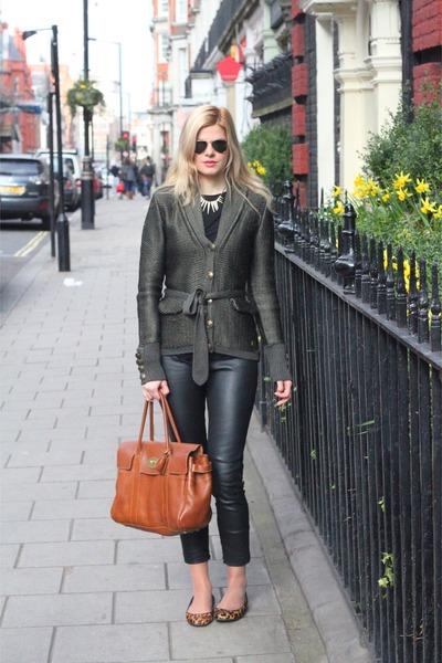 Burberry cardigan - Mulberry bag - Zara pants - calvin klein jeans pumps