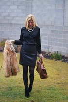 Collective Concepts shirt - faux fur H&M coat - Mulberry bag - YSL ring