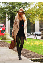 Oasis coat - Zara dress - Mulberry bag