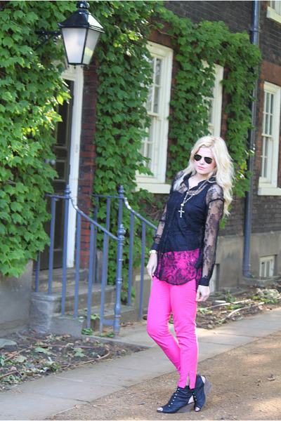 lace H&M shirt - Zara pants