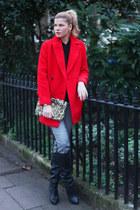 Mango coat - Kurt Geiger boots - Zara bag