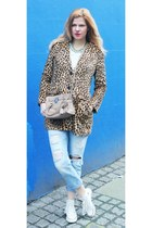 Converse shoes - Mango coat - Zara jeans - Michael Kors bag