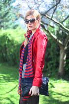 Bershka jacket - Topshop shorts - Trussardi sunglasses