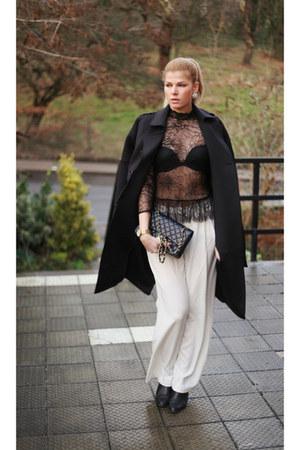 River Island coat - Chanel bag - Oasis top - Mango pants