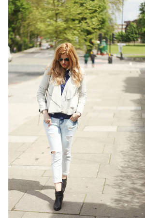 sam edelman boots - Zara jeans - Pepe Jeans jacket - Chanel bag