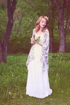 white Bershka dress