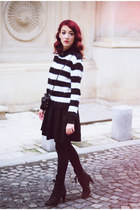 black H&M sweater - black Front Row Shop skirt