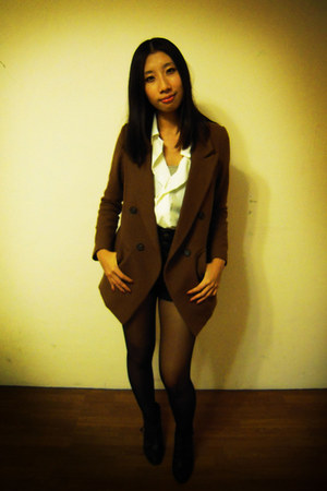 blazer - abercrombie and fitch shorts - blouse
