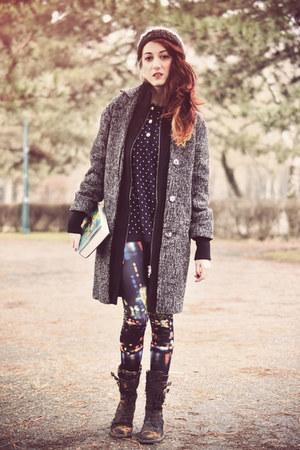 dark gray asos coat - Primark leggings