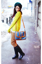 OASAP bag - Forever 21 sweater - mustard Zara pants