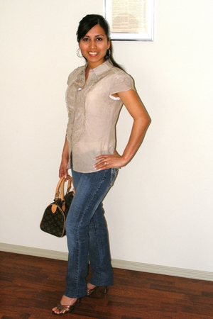 Jacob blouse - Mudd jeans - Marc by Marc Jacobs shoes - Louis Vuitton purse