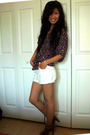 Levis blouse - Silence  Noise shorts - Nine West shoes
