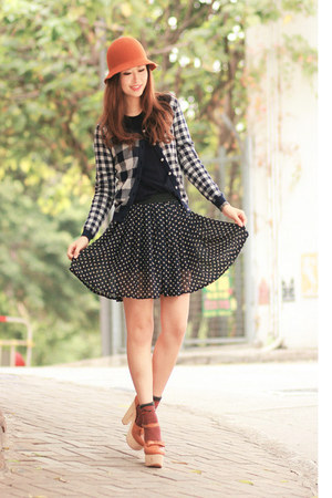 black checkered jacket