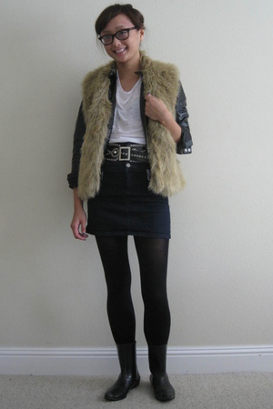 The Row shirt - the gap jacket - vintage vest - Forever21 skirt - vintage belt -