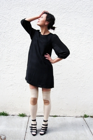 H&amp;M dress - hansel from basel socks - Forever21 shoes
