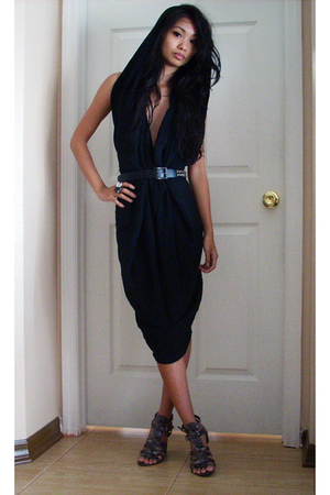 Secondhand dress - belt - Nine West shoes