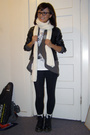 Gap jacket - Helmut Lang jacket - Collette for Gap shirt - Forever21 pants - doc