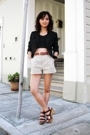H&M top - The Limited blazer - Alexander Wang shorts - Pierre Hardy for Gap shoe