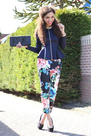 Blue-floral-pants