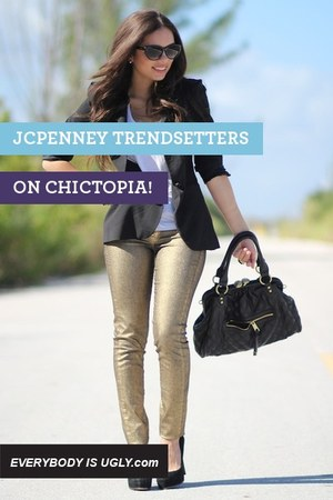gold JCPenney pants