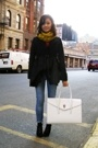 Ryn coat - scarf - Earnest Sewn jeans - Aldo shoes - Staerk purse