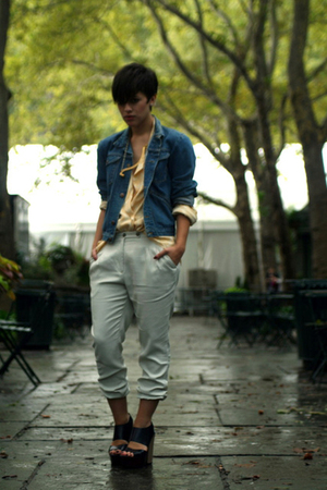 Marni shoes - Zara shirt - vintage jacket - vintage pants