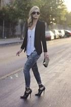black black blazer H&M blazer - navy Express jeans