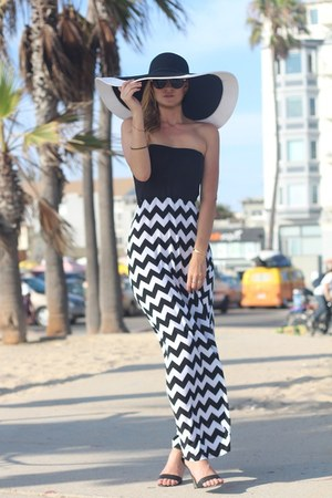 black sun hat Dynamic Asia hat - black maxi dress Bongo Jeans dress