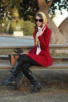yellow 31 Phillip Lim scarf - ruby red Forever 21 coat