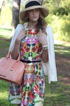 pink brahmin purse - coral floral dress single dress dress