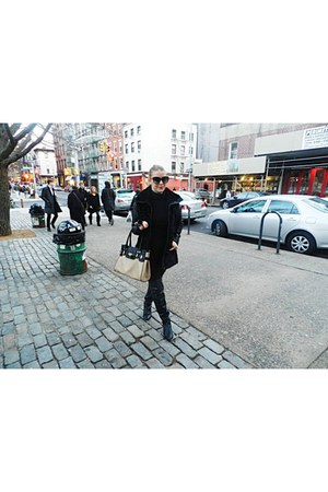 Zara boots - H&M coat - Zara leggings - Aldo bag