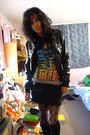 Black-miley-cyrusmax-azria-jacket-black-rave-top-black-oxford-regent-skirt