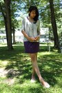 Purple-american-dream-dress-silver-necklace-heather-gray-dream-out-loud-top-