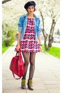 Nowistyle-dress-studded-denim-diy-jacket-nowistyle-bag