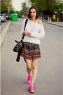 Fluffy-second-hand-sweater-horse-choies-bag-pink-sneakers