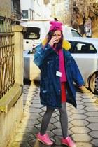 Bershka jacket - pink breanie second hand hat