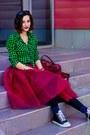 Checkered-green-second-hand-shirt-tulle-ballerina-eddel-skirt