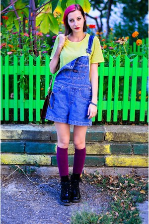 denim overalls second hand shorts - nowIStyle top