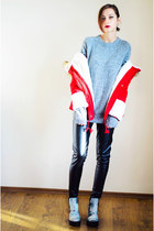 camo H&M boots - red fur hooded sammydress jacket
