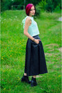 Mint-egoist-top-leather-vintage-skirt