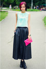 Mint-egoist-top-leather-vintage-skirt